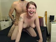 British slut fucking, ass and jugs spanked for web cam tokens