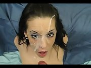 Sex-positive babe got brutally splashed in point of view