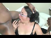 55 year old granny demonstrates why she's considered to be a cocksucking master