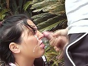 Aussie outdoor jizz flow masturbating to spunking jizz over face